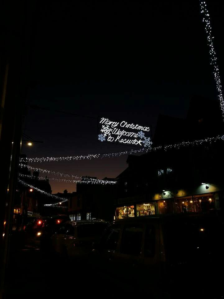 Merry Christmas from Keswick the lake district. #lights #travels #Christmas