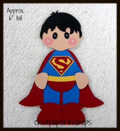Superman Superhero Boy Kid Scrapbook Paper Piecing