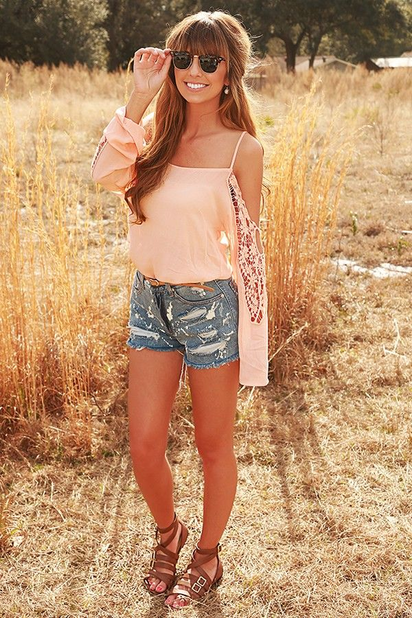 However Far Away Top: Peach #shophopes