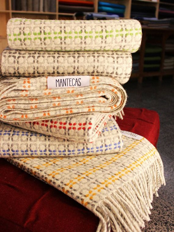 Vintage plaids.. 100% natural wool.. Mantecas // by NeedlesandCie