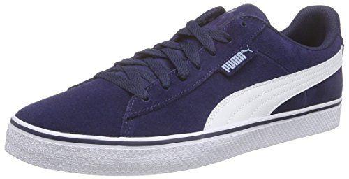 Puma Puma 1948 Vulc, Unisex-Erwachsene Sneakers, Blau (peacoat-white 02), 41 EU (7.5 Erwachsene UK) - http://on-line-kaufen.de/puma/41-eu-puma-puma-1948-vulc-unisex-erwachsene