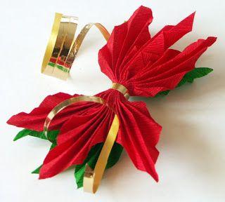 Tatamusetta: tutorial decorazione con stella di natale in carta crespa