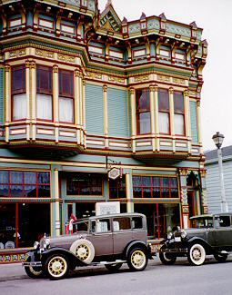 """""""Park your car to step back in time. Enjoy magnificently preserved Victorian architecture as you stroll; pick up visitor information from any shop.On the National Register of Historic Places, Ferndale's Main Street is a photographer's paradise and a shopper's delight.  Explore the old-fashioned mercantiles, antique stores, art galleries, and specialty shops, hear the ringing of the blacksmith's hammer, and talk with the friendly people. Watch fresh candy being dipped by hand to whet your…"""