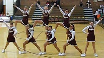 Sparks JV Cheerleaders - Baby Doll Pyramid