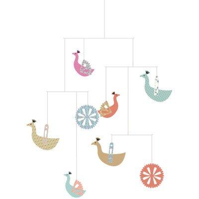 Mobile Paons : Little big room by Djeco - Mobile en carton - Berceau Magique