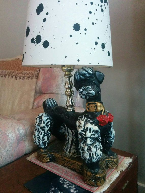 Check out this item in my Etsy shop https://www.etsy.com/listing/288879317/vintage-1960s-handmade-poodle-lamp-art