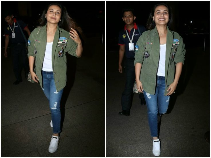 Rani Mukerji is all smiles as she is snapped at the airport