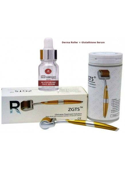 Checkout on Roposo.com - COSDERMA ZGTS DERMA ROLLER 2.5 MM WITH GLUTATHIONE VITAMIN C SERUMHow to use the ZGTS titanium roller with Cosderma Glutathione   Vitamin C Mesoserum )Clean Face with normal water or spirit
