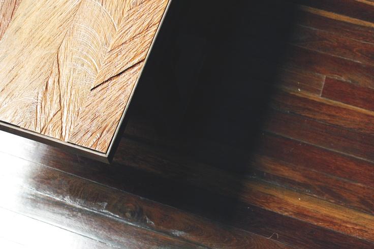 Banca en hierro tapa en madera.