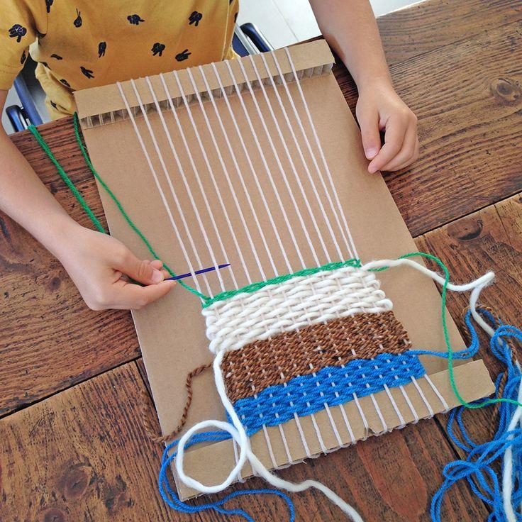 pour mes jolis mômes, mais pas que...: Mon premier tissage : DIY ultra-facile
