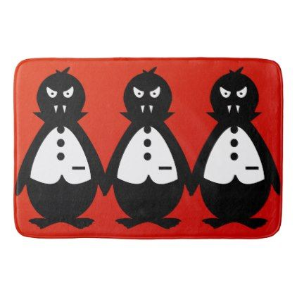 Three Fierce Penguin Vampires VZS2 Bath Mat - home gifts ideas decor special unique custom individual customized individualized