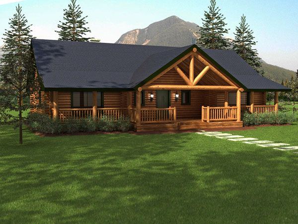 Ranch Style Log Cabin Homes