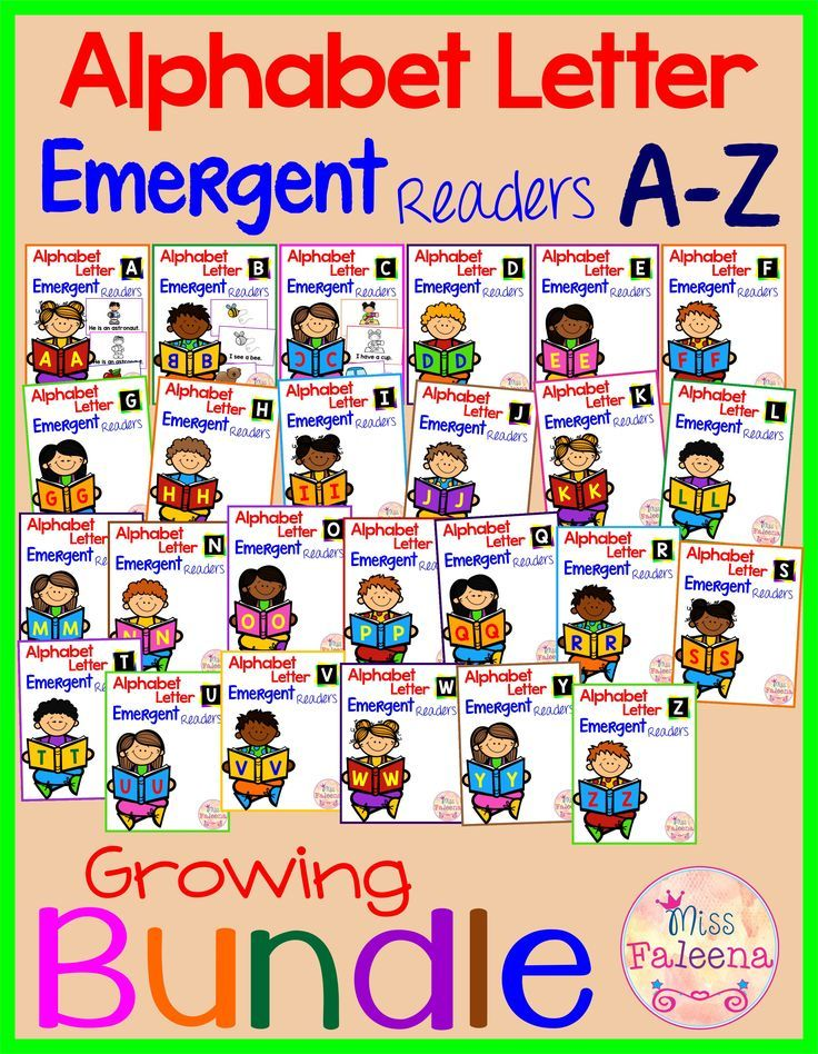 Alphabet Letters Emergent Readers A to Z Growing Bundle will have 480 color and 480 black & white pages of emergent readers when complete. This Bundle is designed to help beginning reading skills while focus on the alphabet letters and build confidence and fluency. Preschool | Kindergarten | Preschool Reading | Kindergarten Reading | Alphabet Emergent Readers Bundle | Phonics | Alphabet | Printables