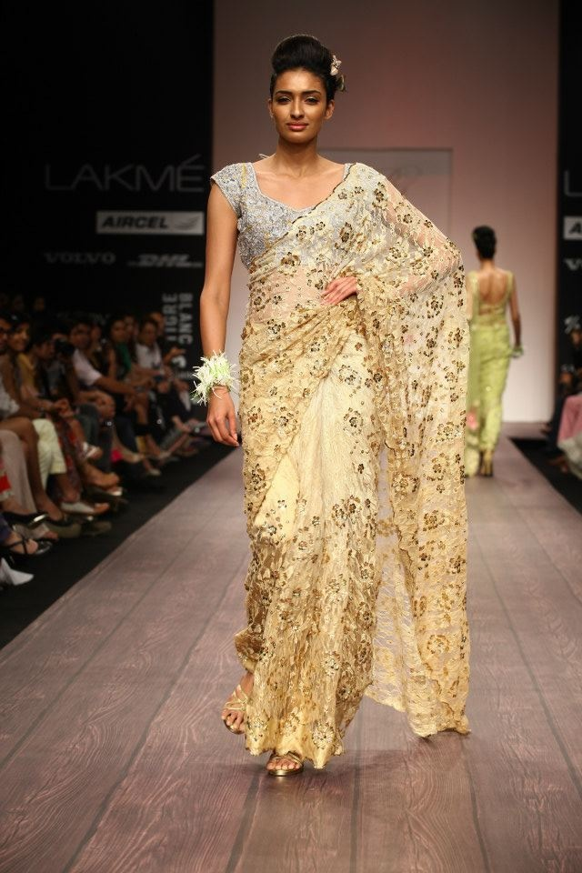 Lakme Indian Fashion Week Spring Summer 2013. Follow Strand of Silk to get the best of Beautiful Indian Fashion from leading Fashion Designers, inc Contemporary Indian Fashion and Indian Bridal clothes like Saris, Anarkalis, Salwar Suits, Lenghas, Indian Jewellery.  #Couture #Fall outfit