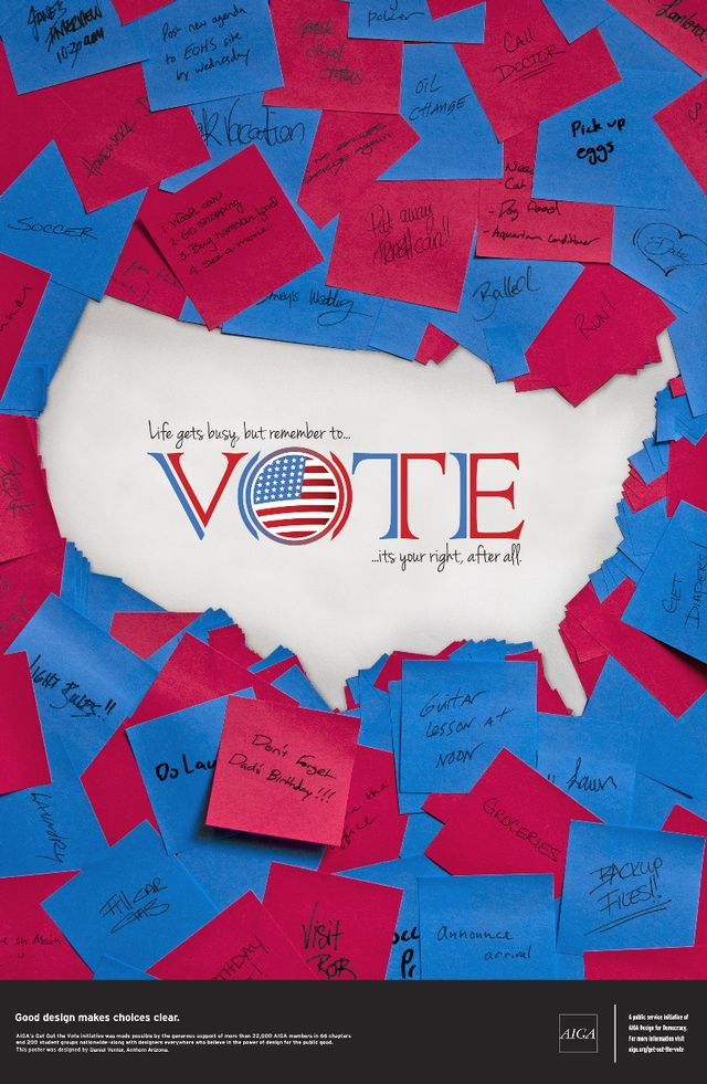 // Get Out The Vote - AIGA
