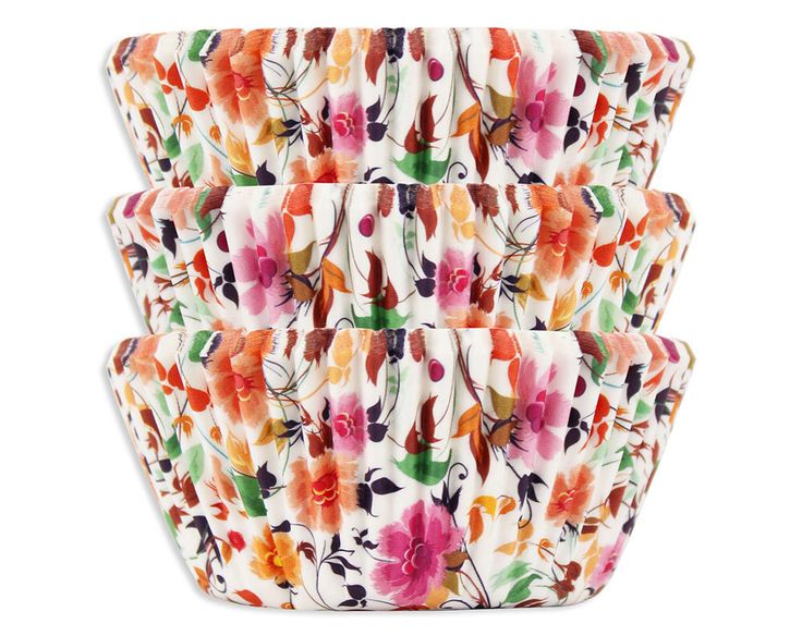Wildflower Baking Cups - 50 boho floral cupcake liners by LayerCakeShop on Etsy https://www.etsy.com/listing/257863274/wildflower-baking-cups-50-boho-floral