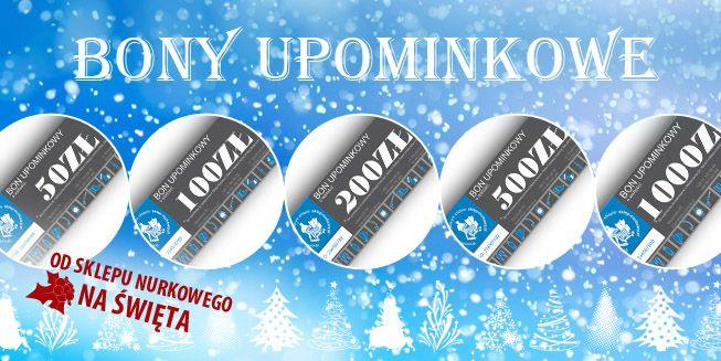 Specjalnie na święta Aquamatic.pl  przygotował ofertę świąteczną. Już od dziś na naszym sklepie możecie kupić bony upominkowe - idealna forma upominku na święta! Zobacz naszą ofertę>> http://www.sklep-nurkowy.pl/