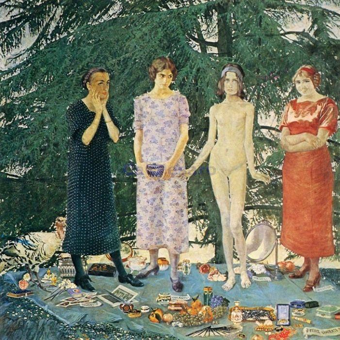 Le Signorine by Felice Casorati