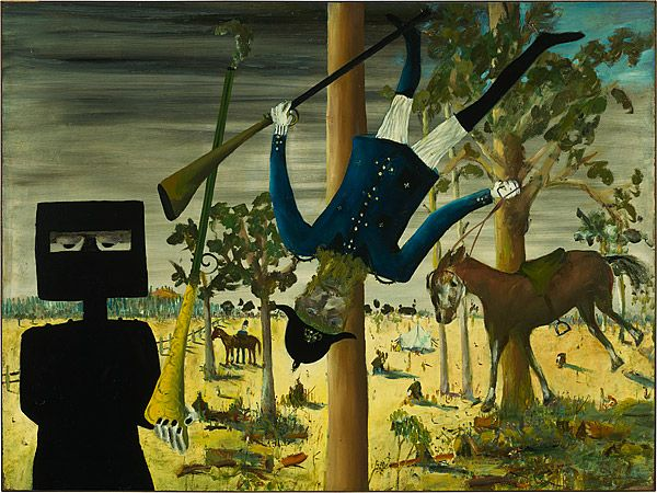 Sidney Nolan 1946-7 Ned Kelly Series - Death of Constable Scanlon 1946