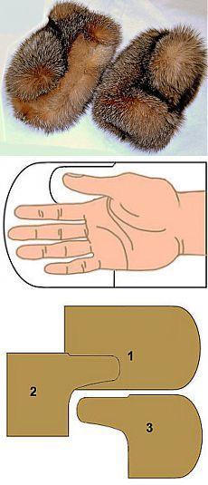 Меховые варежки из старой шубы | Умелые ручки