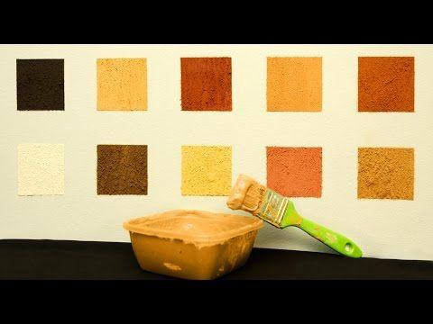 Pinte sua parede com tinta de terra - YouTube