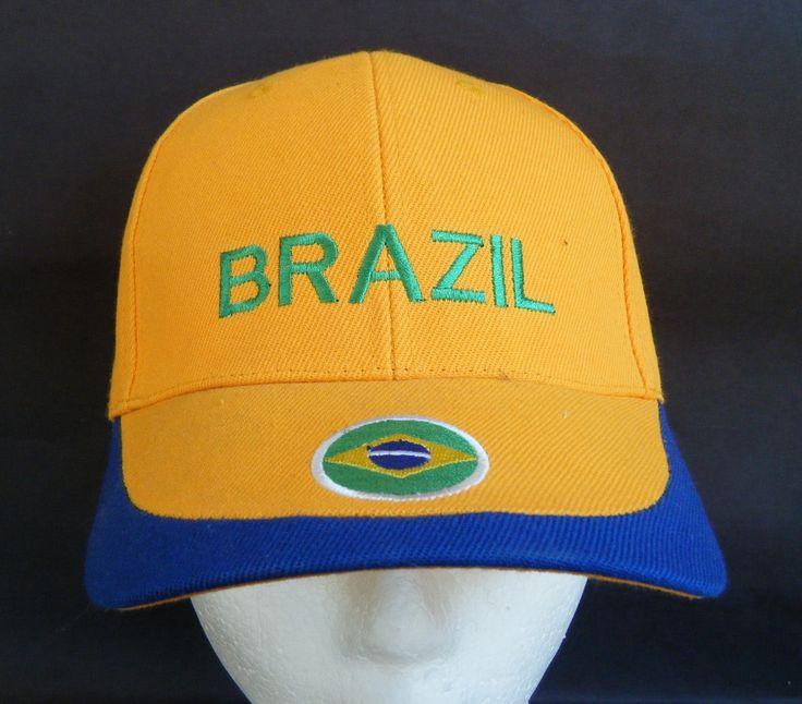 BRAZIL BRASIL WORLD CUP SOCCER PLAYER BASEBALL HAT CAP CHAPEAU CASQUETTE PAYS