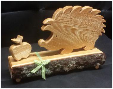 Holzdekoration   Deko Holz Igel mit Teelicht oder Apfel Herz Deko, herbstliche Dekoration, verschiedene Ausführungen vorhanden...