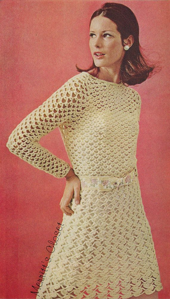 INSTANT DOWNLOAD PDF Vintage Crochet Pattern by MerrittsCloset, $2.99