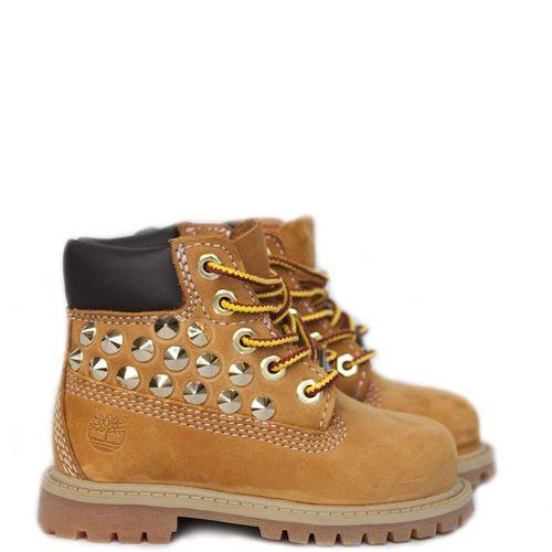 Timberland kids boots cognac met studs