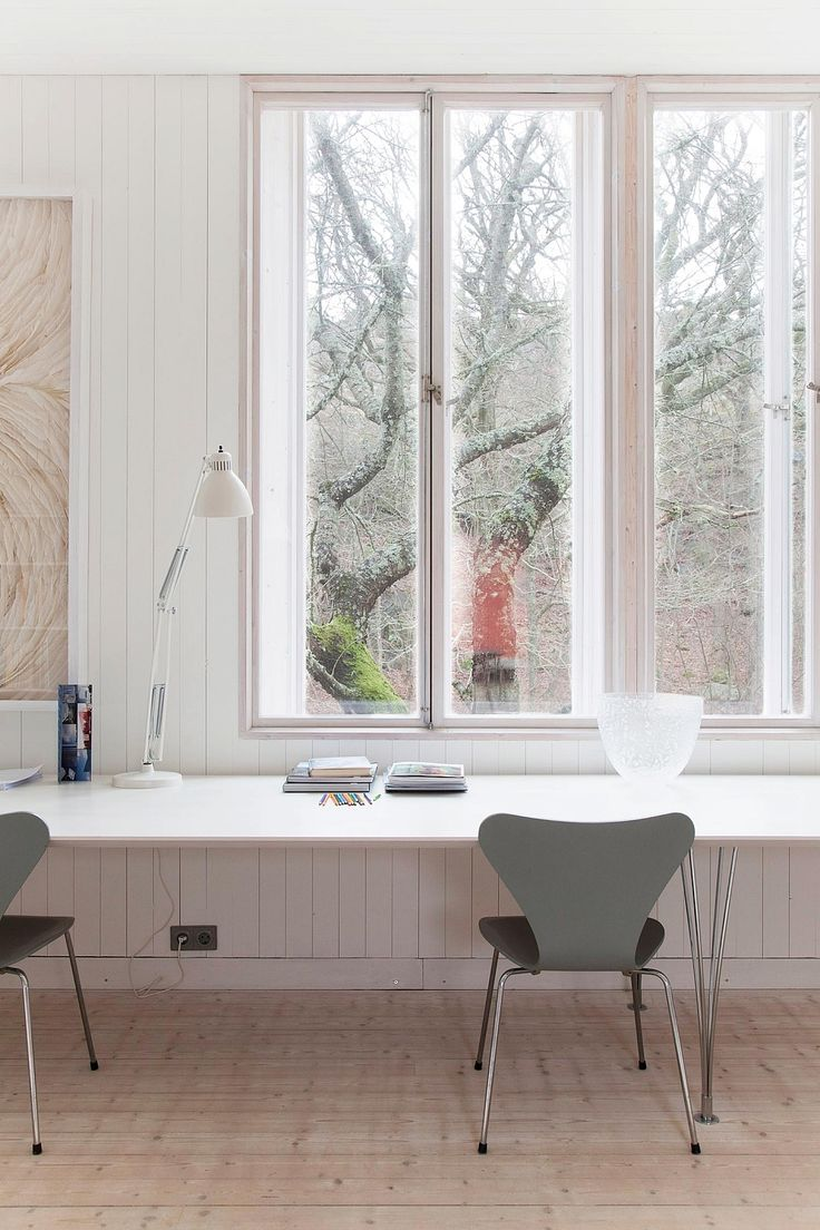 115 best home office i republic of fritz hansen images on colorful cottage renovation and extension in gothenburg window deskdesign for homeoffice stylehome officeinterior