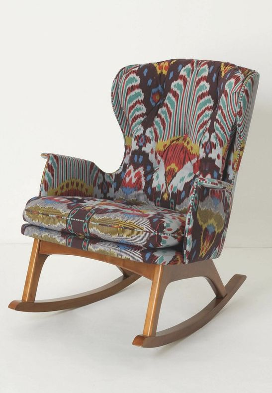 rocker at Anthropologie.  Love the shape and looks comfy...not crazy about the fabric...yikes...just saw the price!