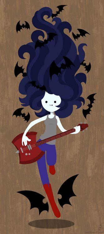 marceline J.C y por el estilo de chica rockera Y.U y por lo vampira G.C