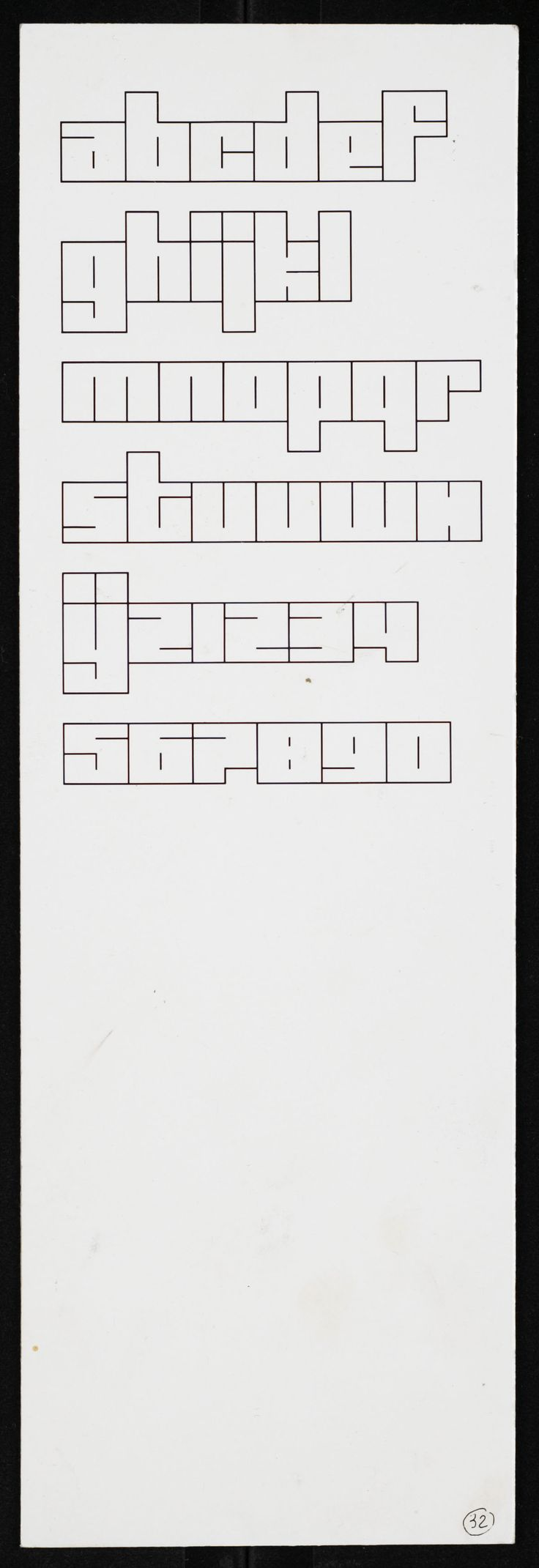 Jurriaan Schrofer - Type Design