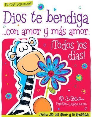 Dios te bendiga …con amor y más amor. ¡Todos los días! ¡Feliz día del amor y la amistad!
