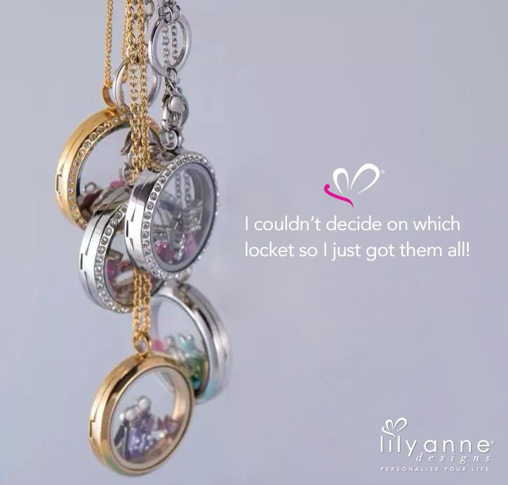 I couldn't decide on which locket so I got them all! www.lilyannedesigns.com.au #PersonalisedLockets #LilyAnneDesigns