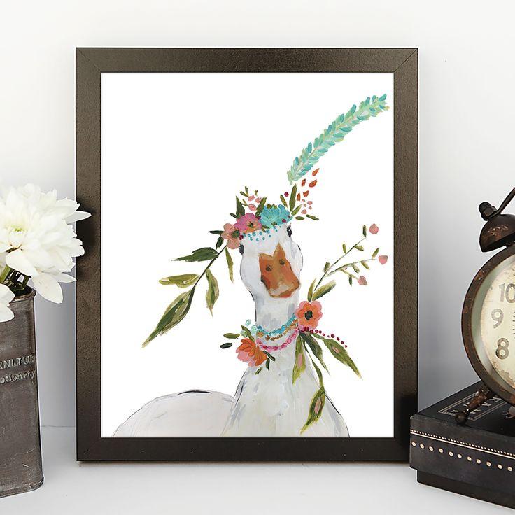 Boho Duck Art Print