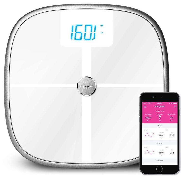 High Quality Koogeek Smart Health Scale Bluetooth Wi-Fi Sync Measures Muscle…