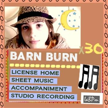 Barn Burn Song Kit - choir ready. This song has  the sweetest #piano_part ever! It sounds a lot like Rachmaninoff. Works to get kids back practicing - they have a goal! This is also a great song for young choirs and classroom playlists. Fun and useful!