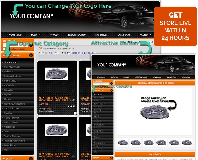 The Best Professional EBay Listing Templates For Car Auto Images - Professional ebay listing templates