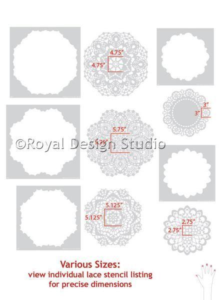 Большие стены искусства кружево салфетка трафареты для Симпатичные Girly Декор стены - Royal Design Studio трафареты
