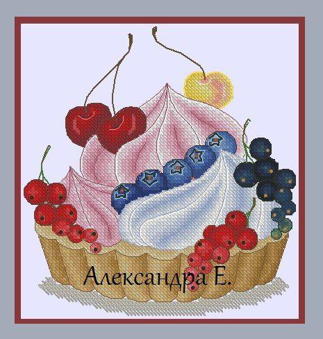 Вкусные схемы для вышивки крестом от Александры