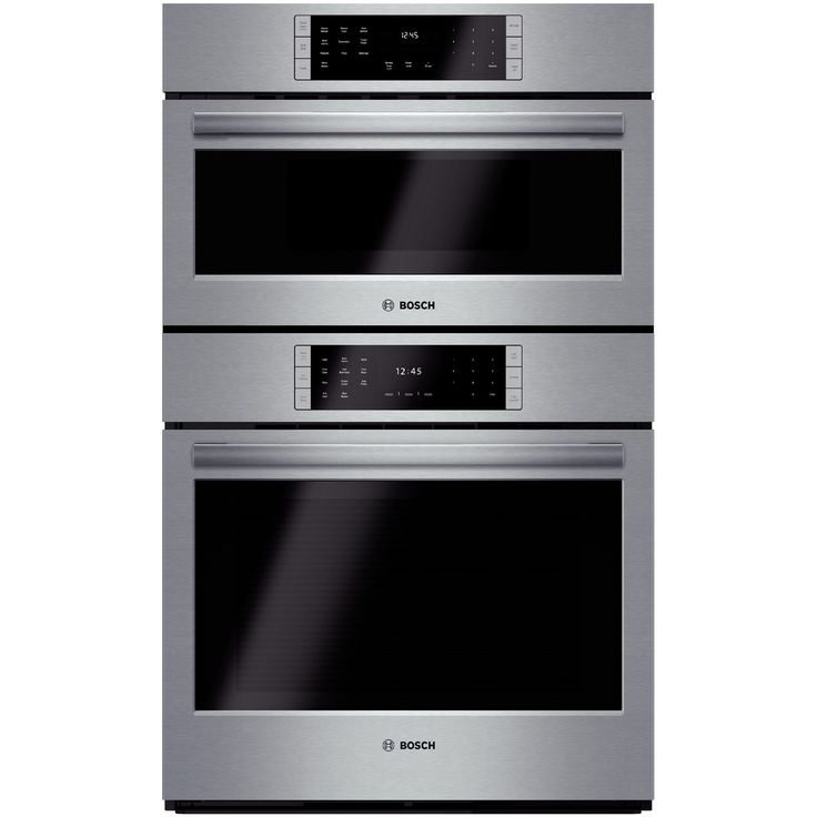 charming Combination Kitchen Appliances #4: The Bosch 800 series combination wall oven from Goedekeru0027s will kick your  kitchen style up a notch. With its cooking power and radiant stainless  steel ...