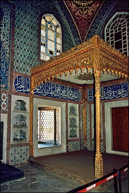 Topkapi Palace. Primary residence of the Ottoman Sultans. Construction began in 1459. Istanbul, Turkey