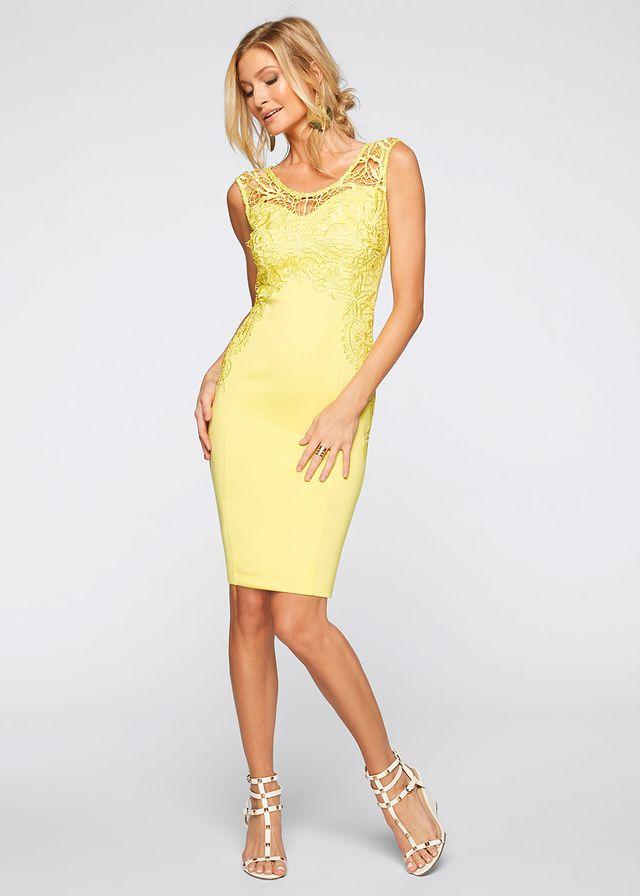 Żółta sukienka z koronką  #sukienka #sukienki #moda #fashion #fashionstyle #dress #dresses #vestidos #yellowdress #żółtasukienka
