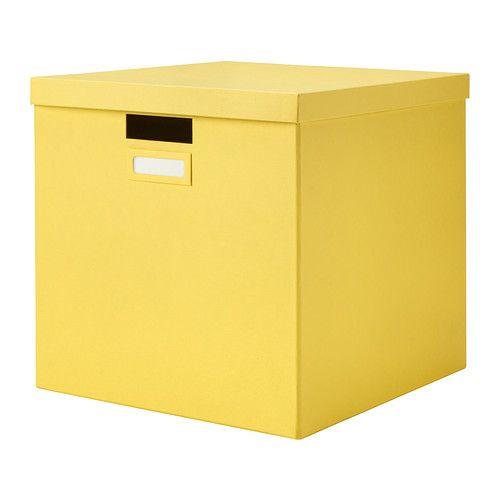 TJENA Boîte avec couvercle IKEA Parfait pour ranger journaux, photos ou autres souvenirs.