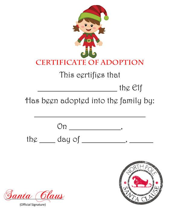 71 best Elf On The Shelf Printables images on Pinterest - printable christmas certificates