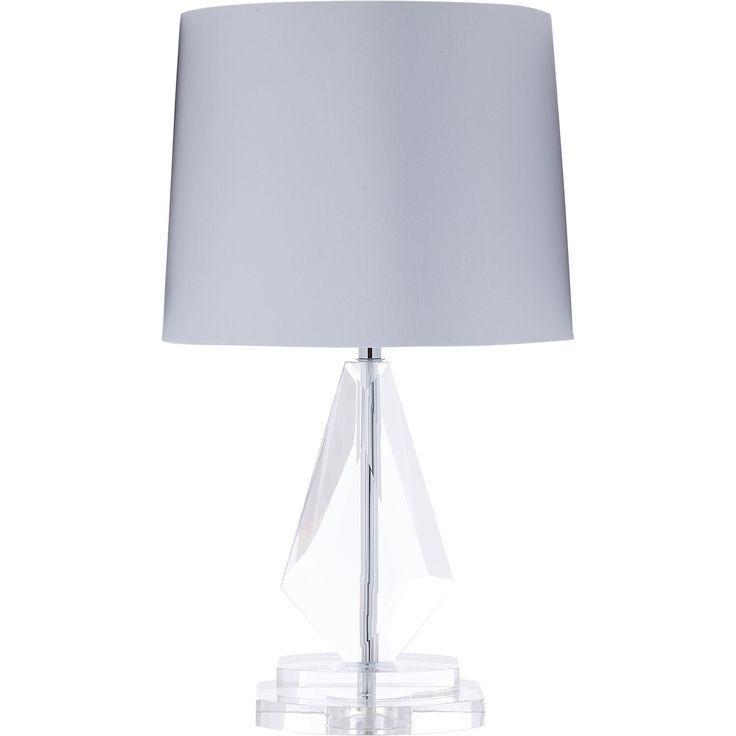 Cream & Glass Table Lamp - TK Maxx