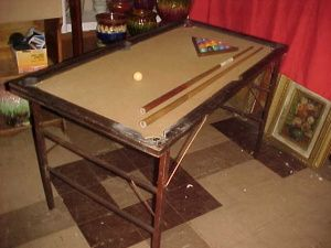 Early 1900's ET Burrowes Co Junior Portable Pool Table