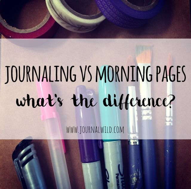 Ever wondered what the difference is between morning pages and regular journaling? Some people do morning pages as part of their journaling...