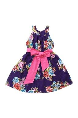 Floral A-Line Dress (Toddler, Little Girls,